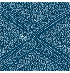 Seamless asian ethnic retro doodle pattern vector image