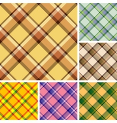 Seamless plaid patterns vector image vector image