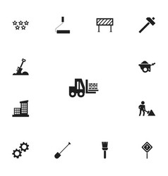 Set of 13 editable construction icons includes vector