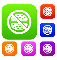 stop fast food set collection vector image