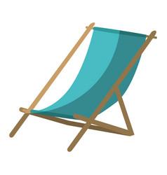 Sun chair isolated vector