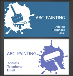 Template cards for painting vector