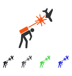 Terrorist strikes aircraft flat icon vector