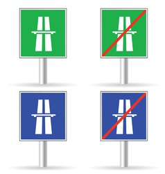 Traffic sign freeway color vector