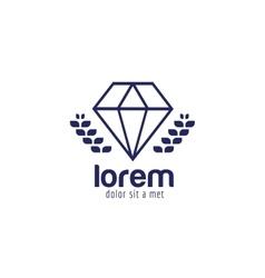 Vintage old diamond logo icon template vector
