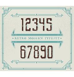 Vintage Retro Font Handcrafted Decoration Font vector image