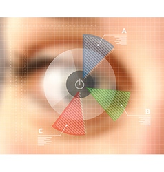 Virtual screen eye infographics blurred effect vector