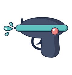 Water gun icon cartoon style vector