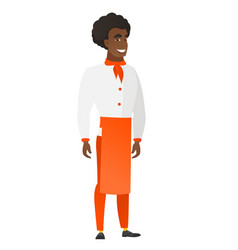 young african-american confident chef cook vector image