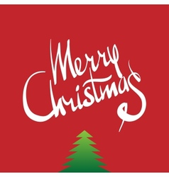 Merry christmas hand lettering - calligraphy vector