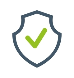 Shield security guard isolated icon vector