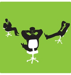 Businessmen in chairs vector