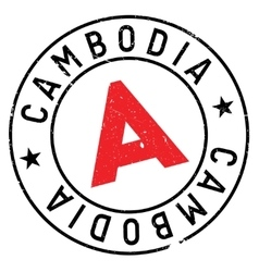 Cambodia stamp rubber grunge vector image