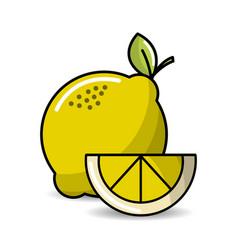 lemon fruit icon stock vector image
