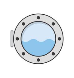 porthole of ship vector image