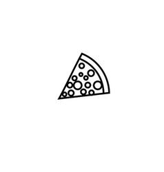 Pizza icon vector
