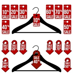 Sale tags with different styles vector
