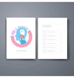 Modern re-targeting and mind flat icons cards vector