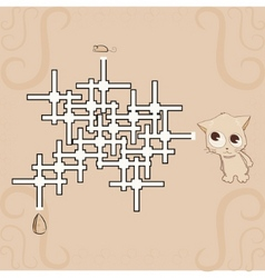 Labyrinth  mouse cheese and cat vector