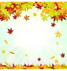 Autumn frame with falling leaves vector