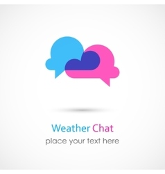 Weather chat icon vector