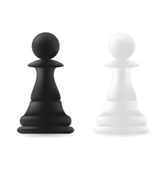 pawn chess piece black and white vector image