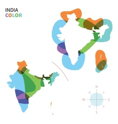 Abstract color map of India vector image vector image