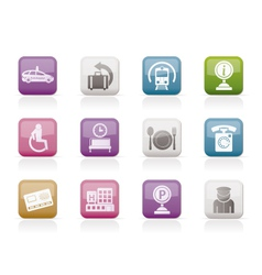 airport and transportation icons 2 vector image vector image