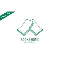 Book house roof template logo icon back to school vector