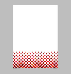 Brochure template from red diagonal square vector