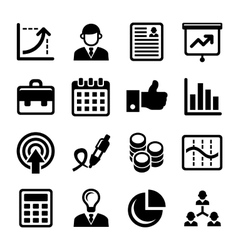 Business Management and Human Resources Icons Set vector image vector image