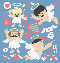 Cartoon cupid bow and arrows vector