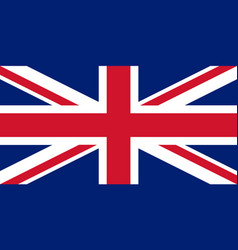 Colored flag of great britain vector