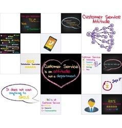 Customer service set vector