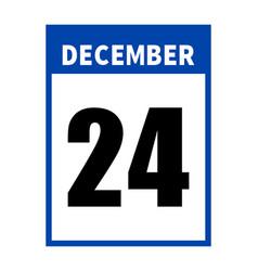 december 24 calendar on white background vector image