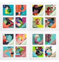 Flat design geometric info banners web boxes vector