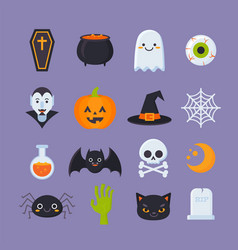 Halloween-icons vector