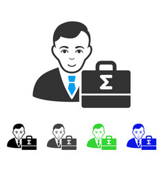 Happy bookkeeper icon vector