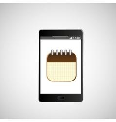 Icon smartphone calendar agenda design vector