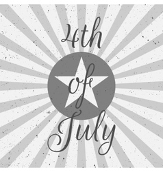 Independence Day 4th of July flat Label vector image