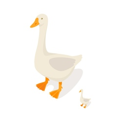 Isometric 3d of farm goose vector image vector image