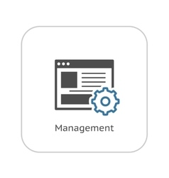 Management Icon Business Concept vector image vector image