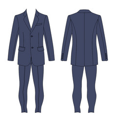 mans suit vector image