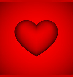 Red abstract heart sign vector