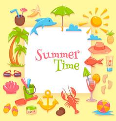 Summer time frame vector