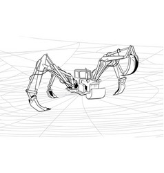 tractor-spider or increase of the productivity vector image