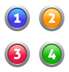 Web numbers buttons vector
