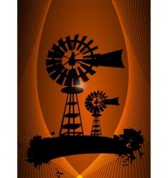 windmill farm vector image vector image