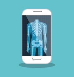 X ray digital medical healthcare isolated vector