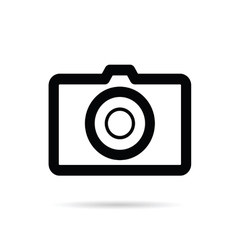 Camera black icon on white background vector